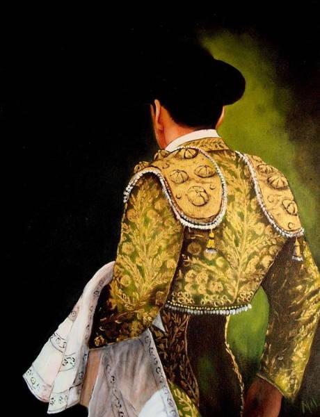 Matador Wall Art - Painting - Torero En Verdi by Marlyn Anderson
