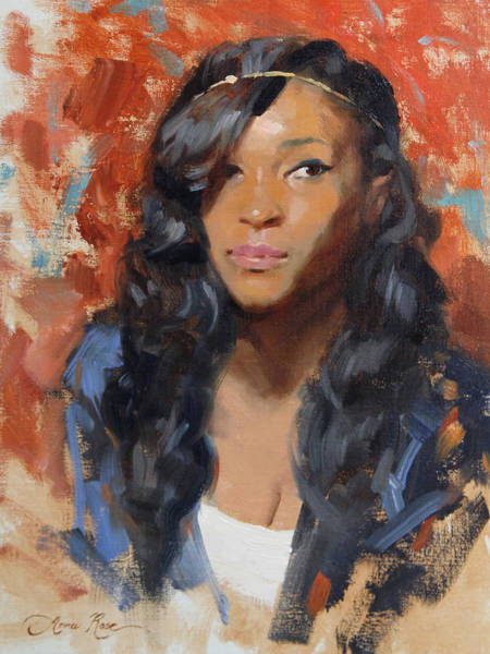 Wall Art - Painting - Tori Portrait Demo by Anna Rose Bain