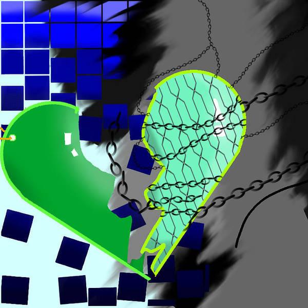 Heartbroken Digital Art - Pulled Apart by Ariel Powers
