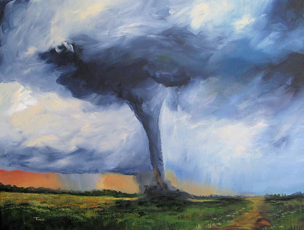 Wall Art - Painting - Tornado by Torrie Smiley
