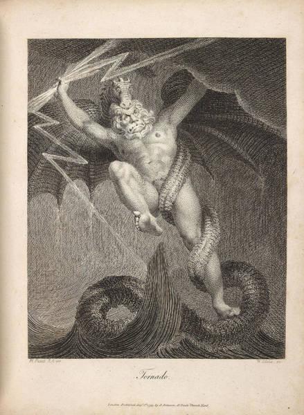 William Blake Drawing - Tornado by William Blake