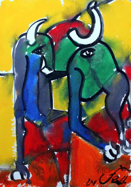 Toros Painting - Toro 7 by Jorge Berlato