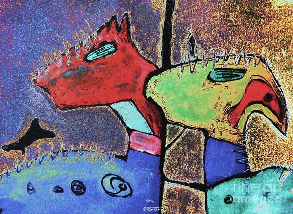 Petroglyphs Digital Art - Toro Muerto 3 by Pamela Iris Harden