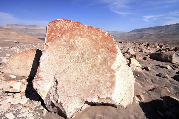 Photograph - Toro Muerto Petroglyph 21 by Aidan Moran