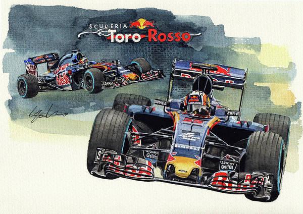 Toros Painting - Toro Rosso Str11 by Yoshiharu Miyakawa