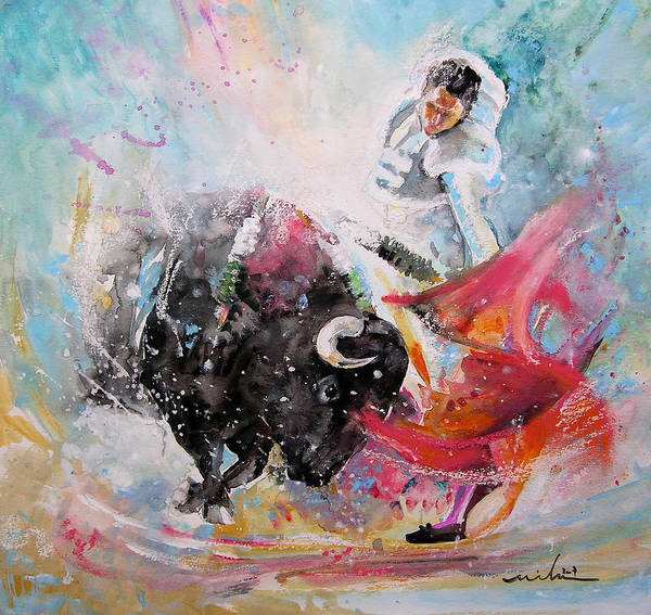 Toros Painting - Toro Tempest by Miki De Goodaboom