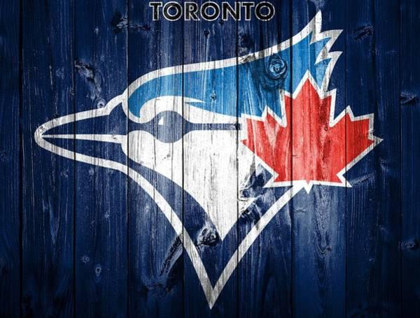 Mixed Media - Toronto Blue Jays Barn Door by Dan Sproul