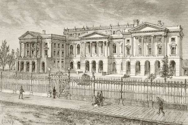 Toronto Drawing - Toronto, Canada. Osgoode Hall In The by Vintage Design Pics
