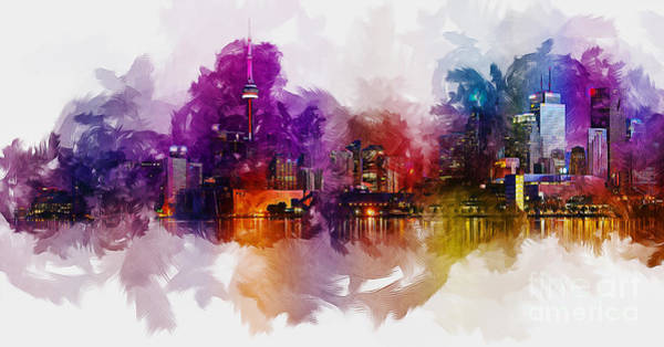Toronto Canada Skyline Art Print