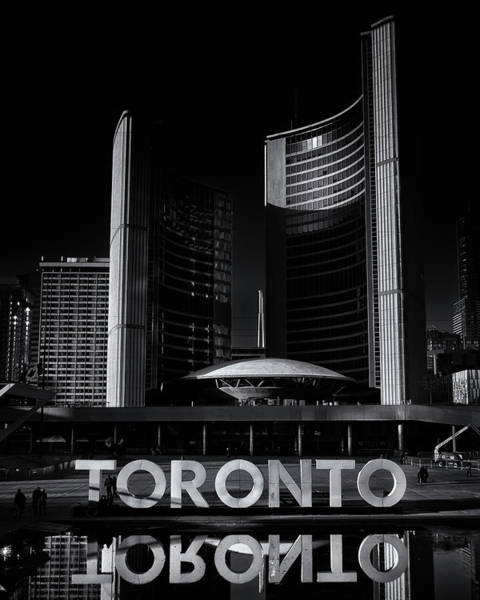 Photograph - Toronto City Hall No 1 by Brian Carson