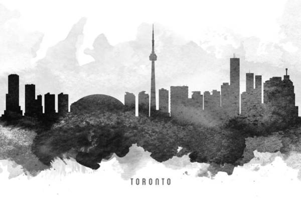 Toronto Painting - Toronto Cityscape 11 by Aged Pixel