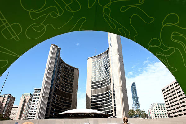 Wall Art - Photograph - Toronto Downtown City Hall by Mark Duffy