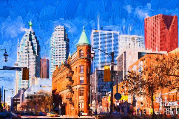 Photograph - Toronto Flatiron - Painterly by Les Palenik