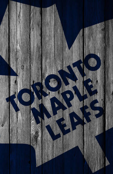 Mask Digital Art - Toronto Maple Leafs Wood Fence by Joe Hamilton