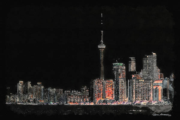 Digital Art - Toronto Nights by Serge Averbukh