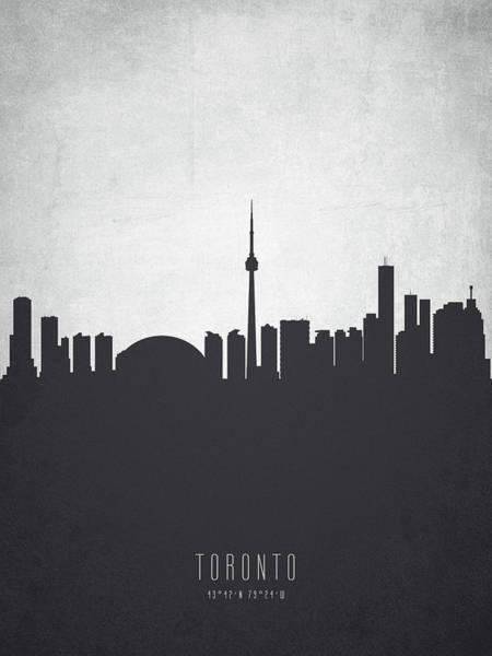 Toronto Painting - Toronto Ontario Cityscape 19 by Aged Pixel