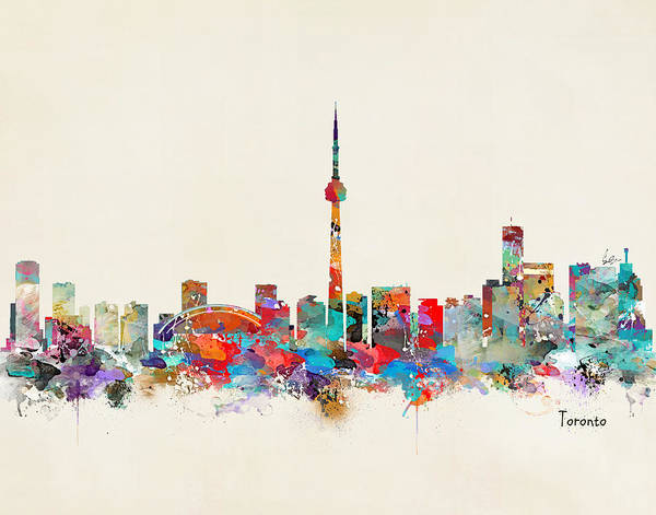Toronto Painting - Toronto Ontario Skyline by Bri Buckley
