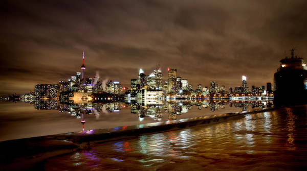 Wall Art - Photograph - Toronto Polson Pier Winter Night by Mark Duffy