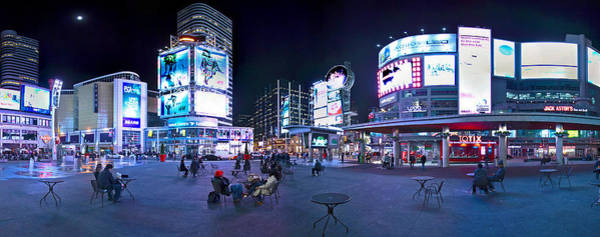 Photograph - Toronto Skyline At Dundas Square by Levin Rodriguez