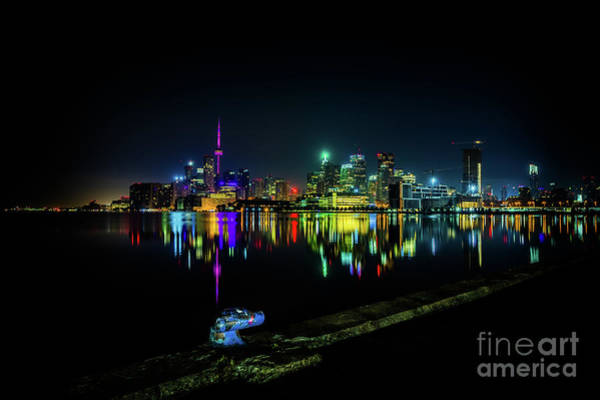 Photograph - Toronto Skyline At Night 2 by Roger Monahan