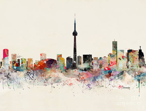 Toronto Painting - Toronto Skyline by Bri Buckley