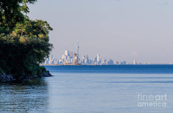 Photograph - Toronto Skyline In Far Distance by Les Palenik