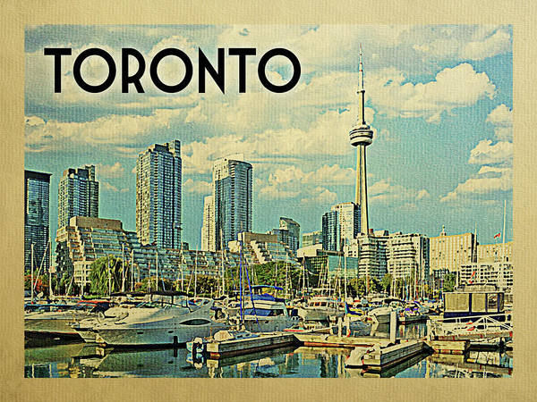 Wall Art - Digital Art - Toronto Travel Poster by Flo Karp