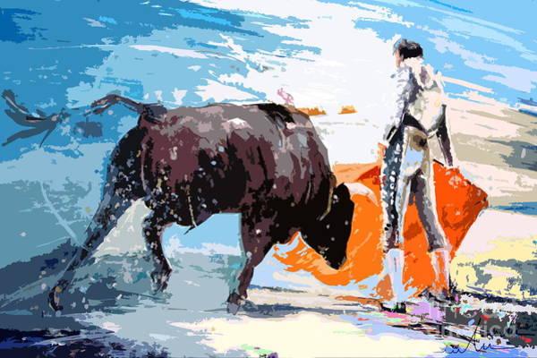 Torero Wall Art - Painting - Toroscape 37 by Miki De Goodaboom