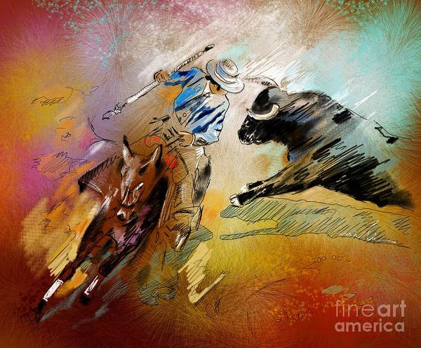 Torero Wall Art - Painting - Toroscape 42 by Miki De Goodaboom