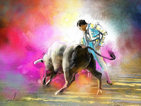 Torero Wall Art - Painting - Toroscape 44 by Miki De Goodaboom