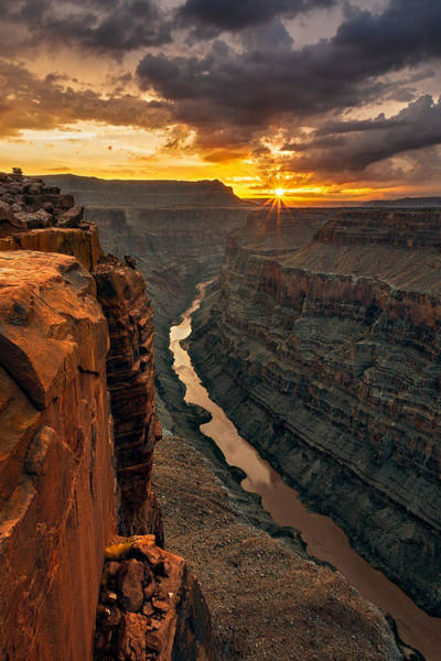 Plateau Wall Art - Photograph - Toroweap Sunrise by Guy Schmickle