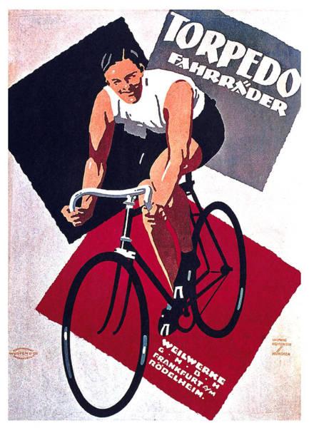 Wall Art - Mixed Media - Torpedo Fahrrader - Cycles - Vintage Advertising Poster by Studio Grafiikka