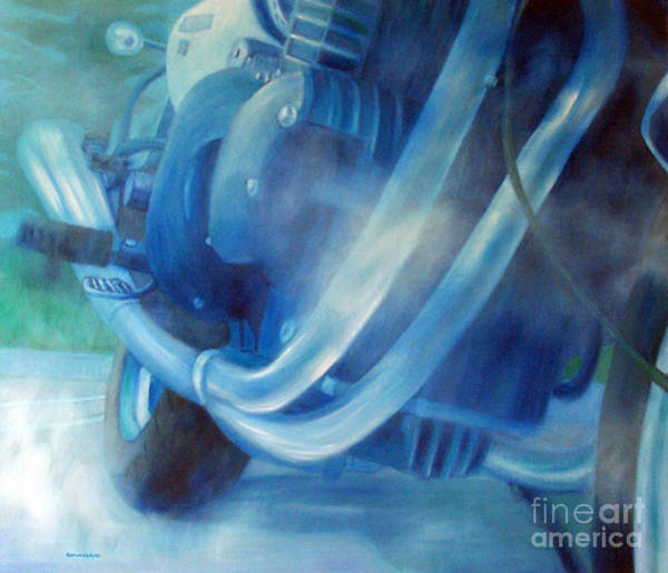Bike Racing Painting - Torque Triple - Triumph Thunderbird Sport by Brian  Commerford