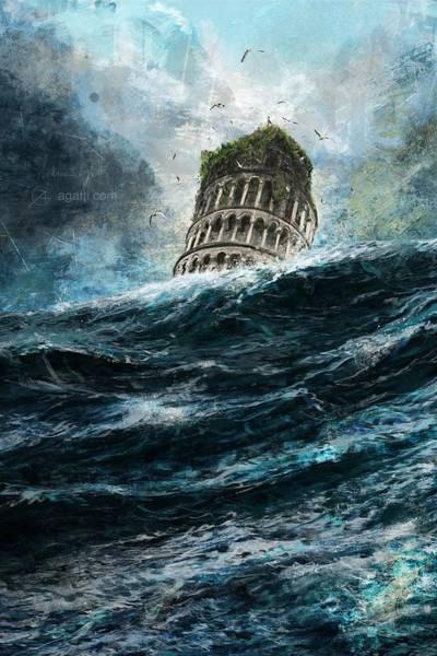 Tramonto Wall Art - Digital Art - Torre Di Pisa by Andrea Gatti