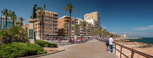 Wall Art - Photograph - Torrevieja Seafront by Mike Walker