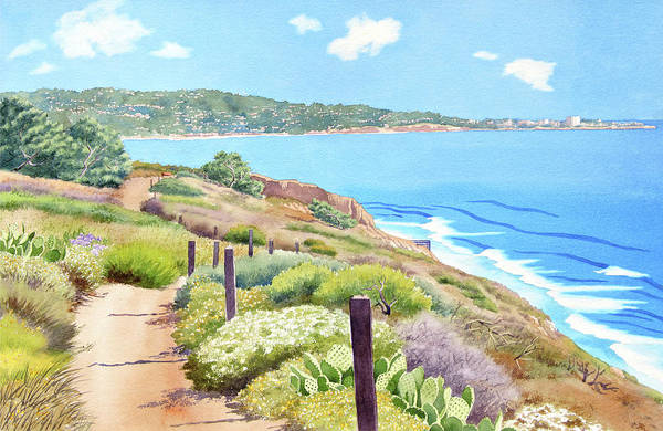 Wall Art - Painting - Torrey Pines And La Jolla by Mary Helmreich