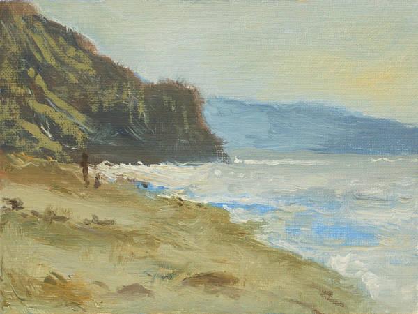 Torrey Pines Beach Art Print by Robert Bissett