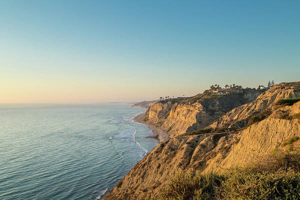Photograph - Torrey Pines Coast At Sunset by M C Hood