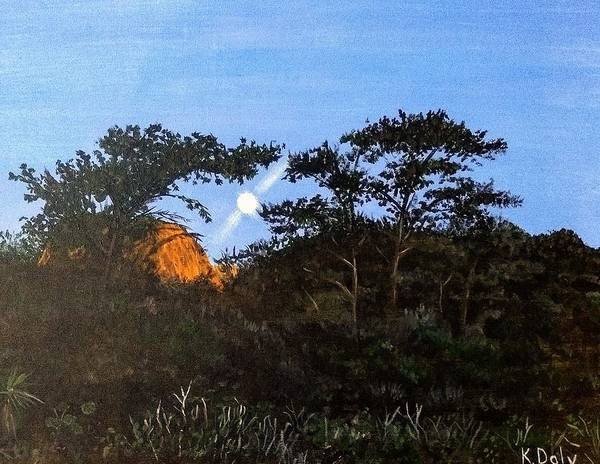 Art Print featuring the painting Torrey Pines In The Morning by Kevin Daly
