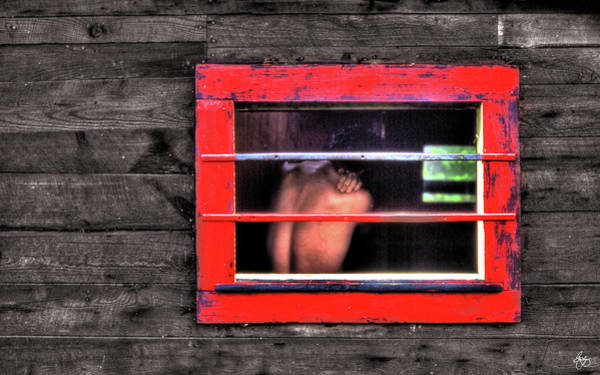Photograph - Torso In A Red Window by Wayne King