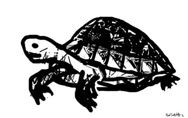 Drawing - Tortoise  by Paul Sutcliffe