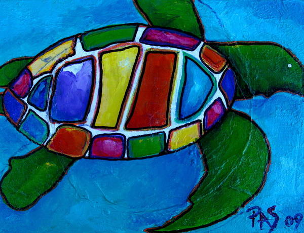 Painting - Tortuga by Patti Schermerhorn