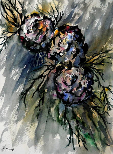 Painting - Tortured Roses by Carol Crisafi