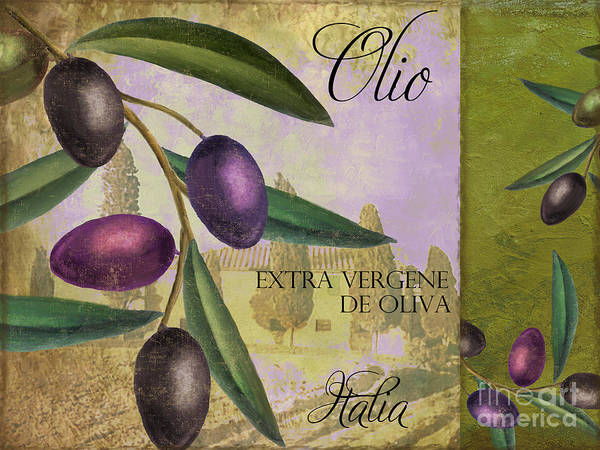 Olive Oil Painting - Toscana by Mindy Sommers
