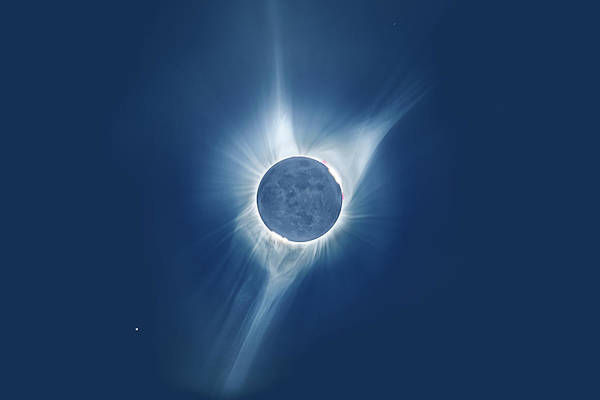 Photograph - Total Eclipse by Ralf Rohner