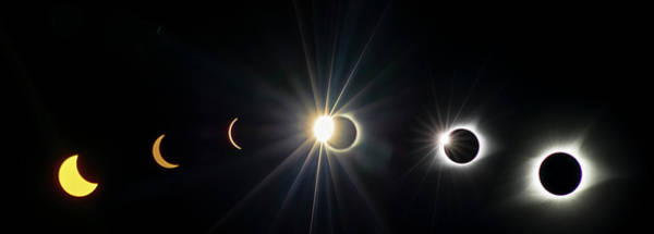 Photograph - Total Solar Eclipse Sequence by Rima Biswas