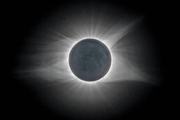 Photograph - Total Solar Eclipse With Corona by Lori Coleman