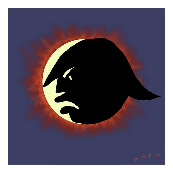 Moon Digital Art - Total Trump Eclipse by Kim Warp