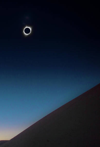 Photograph - Totality Over Idaho Sand Dunes by Cliff Wassmann