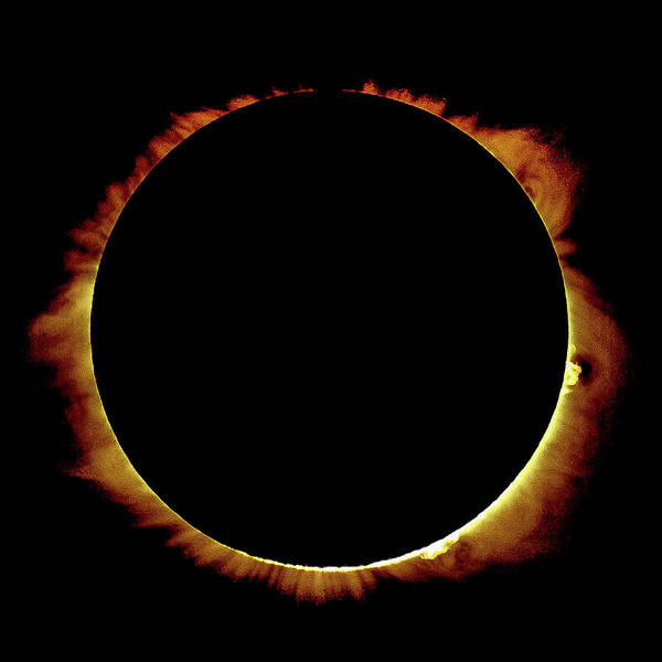 Photograph - Totality Over Processed by Onyonet  Photo Studios